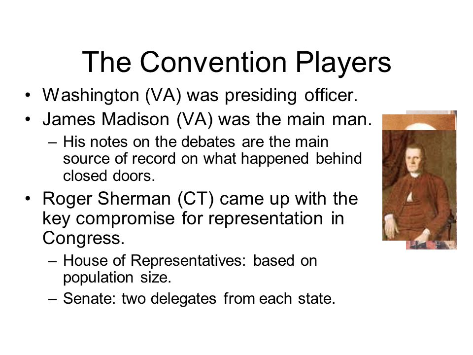 The Convention Players Washington (VA) was presiding officer.