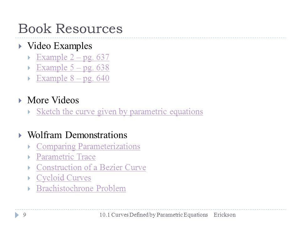 Chapter 10 – Parametric Equations & Polar Coordinates 10 1