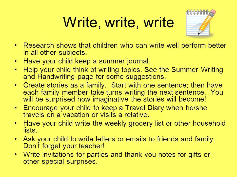 summer writing topics