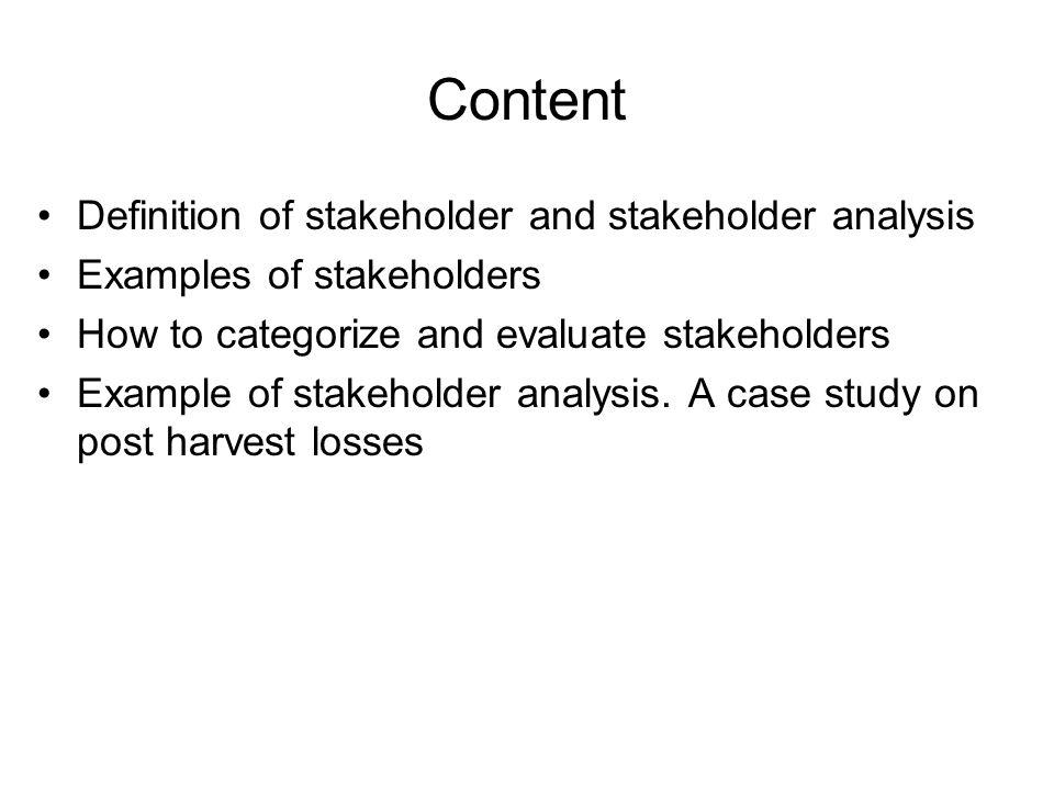 Stakeholders And Stakeholder Analysis Icelandic International