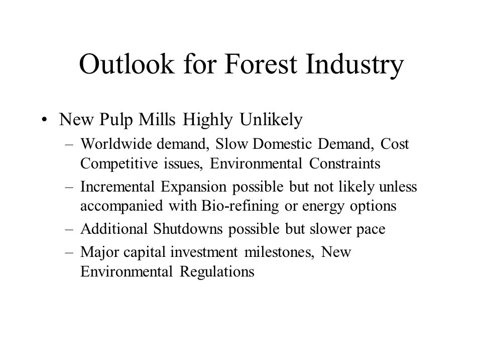 Wood For Energy and Bio-refining American Loggers Council