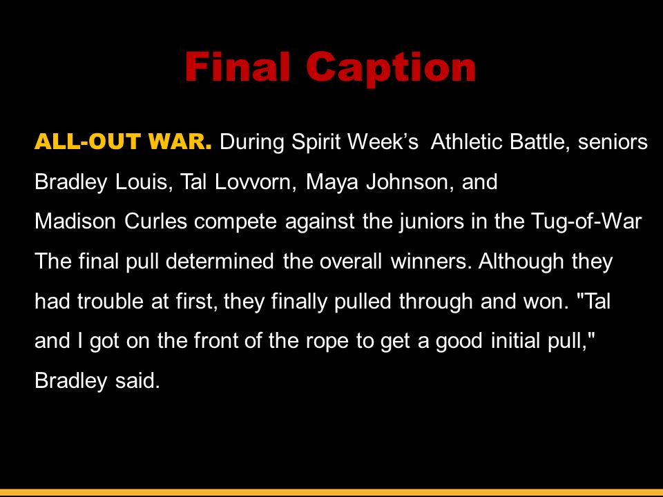 Final Caption ALL-OUT WAR.