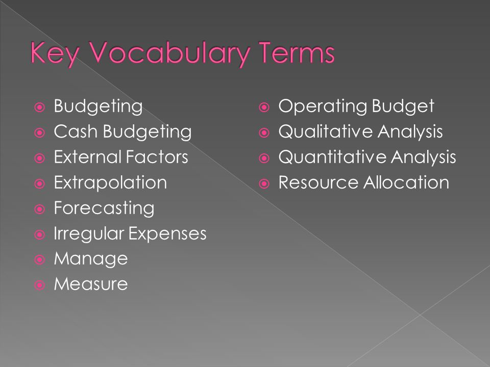 explain the importance of a personal budget describe how