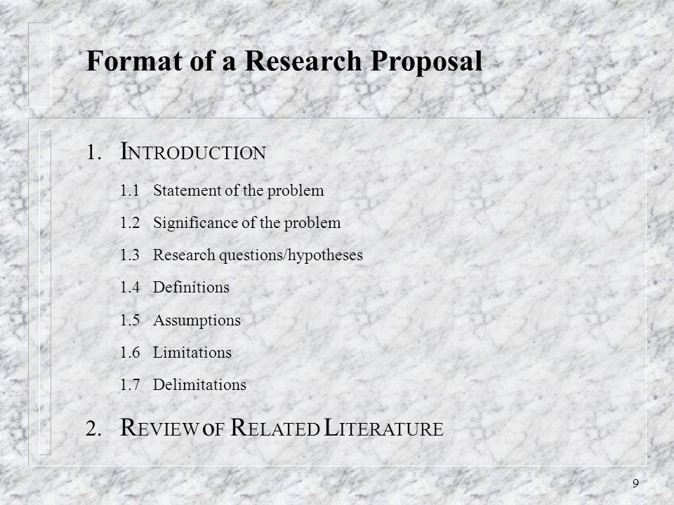 dissertation proposal parts