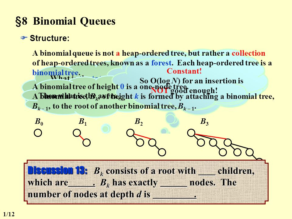 8 binomial queues haven t we had enough about queues what is a