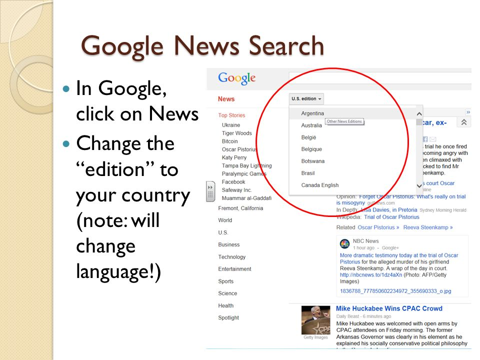 Tips for finding news articles from your country  - ppt download