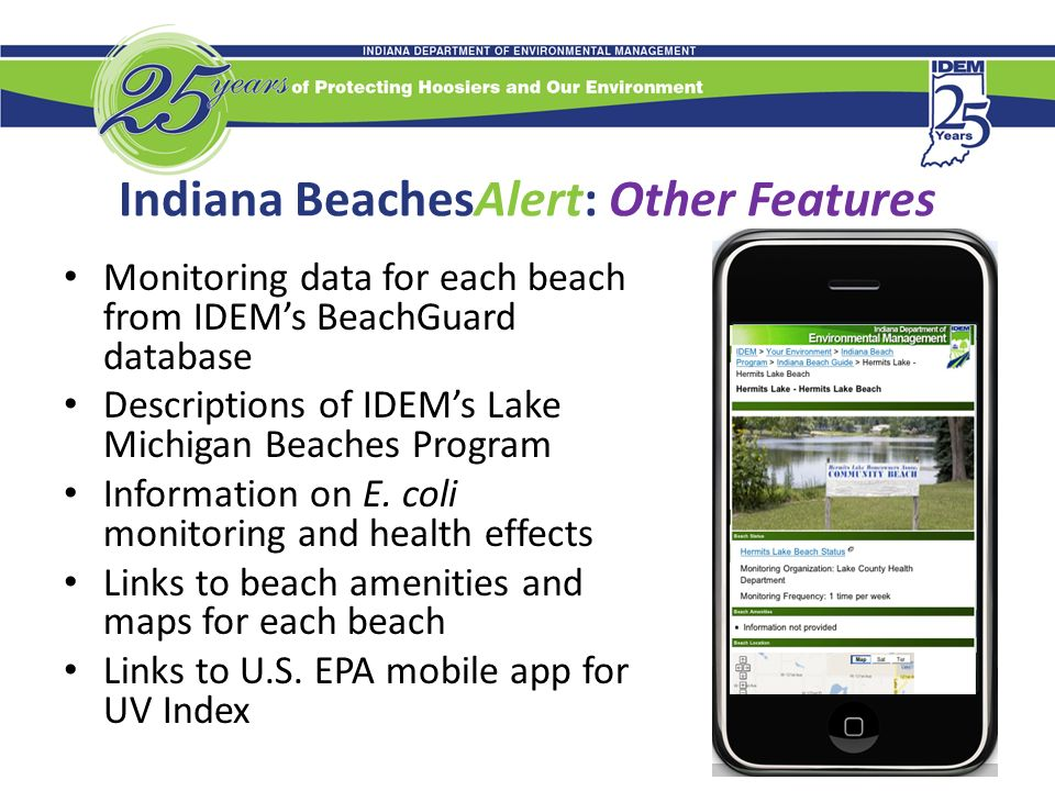 Indiana BeachesAlert Beach Notification System for Mobile