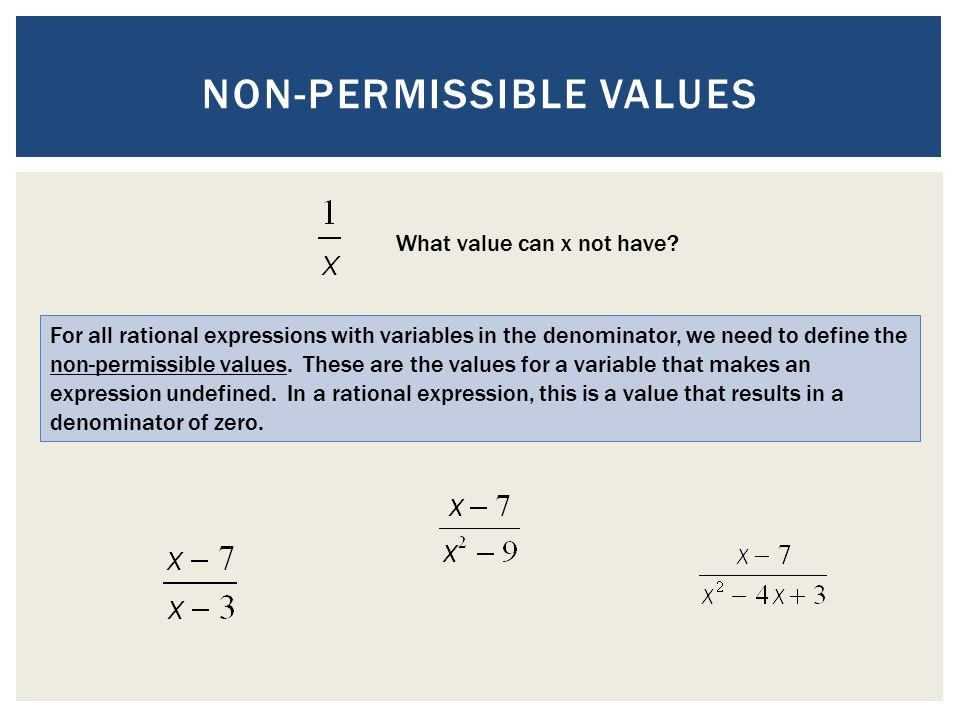 permissible inequality definition
