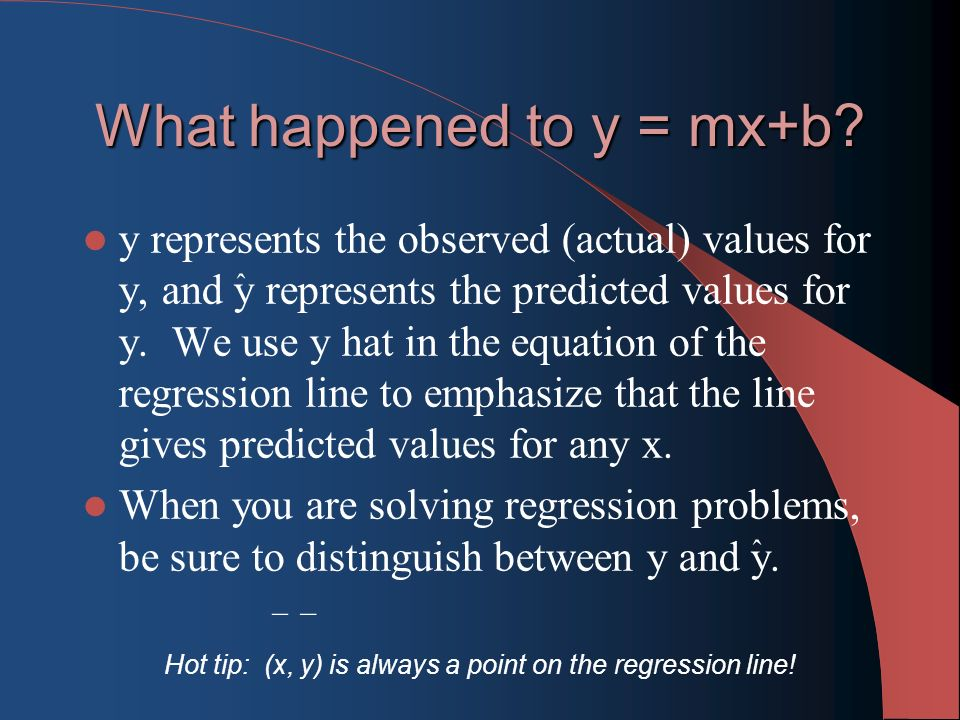 What happened to y = mx+b.