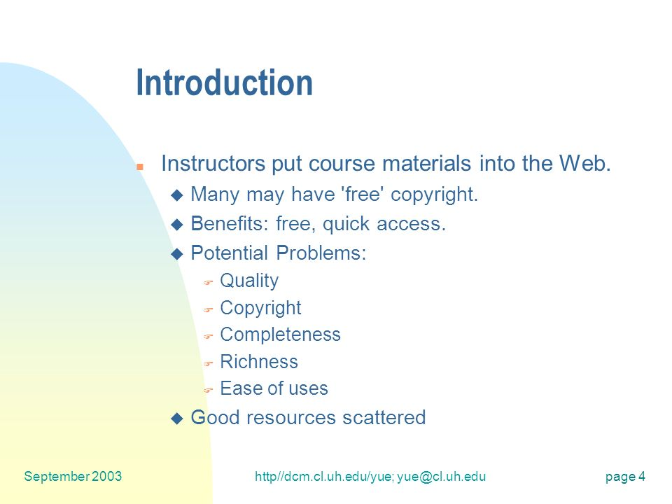 1 A Model for Collaborative Open Courseware By Bun Yue at