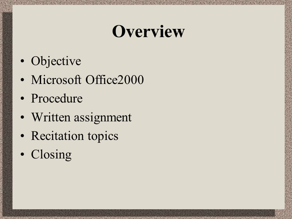ms powerpoint presentation topics