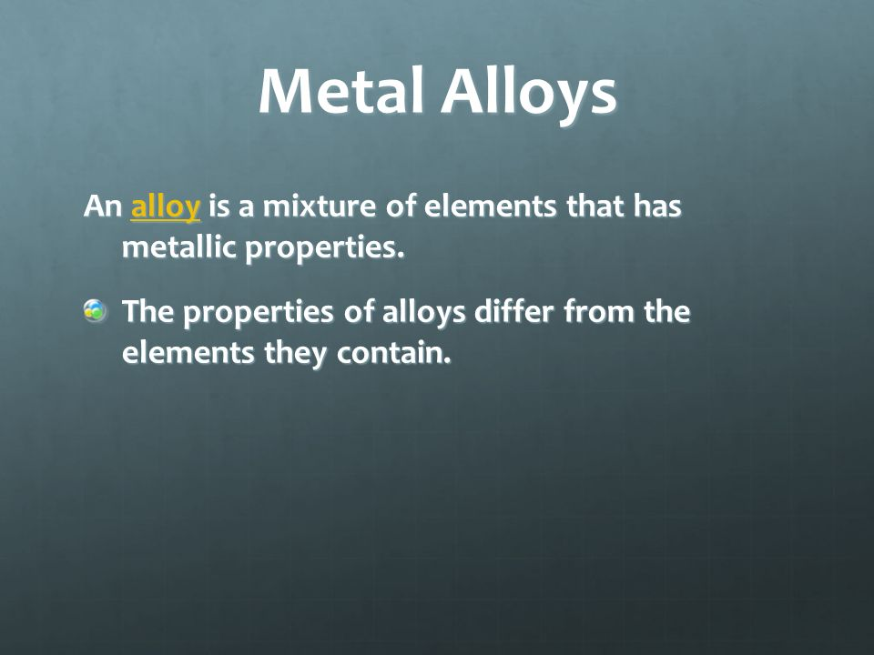 Properties of Metals Mobile electrons around cations make metals good conductors of electricity and heat.