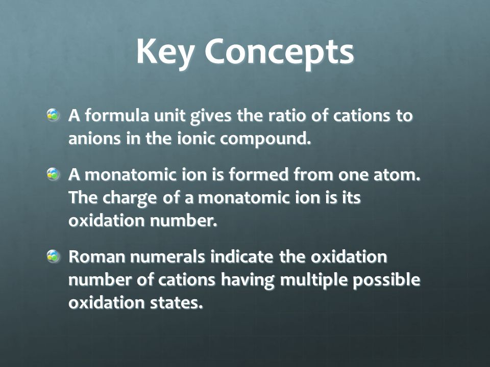 Key Concepts Ionic compound properties are related to ionic bond strength.