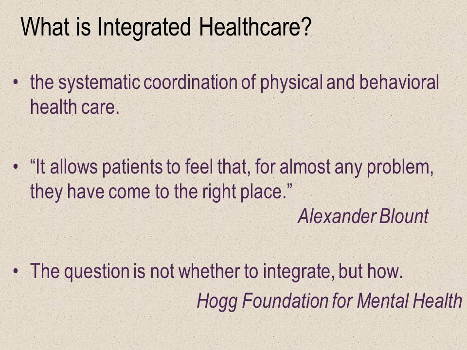 Integrating Mental Health Physical Health And Substance Use For Low