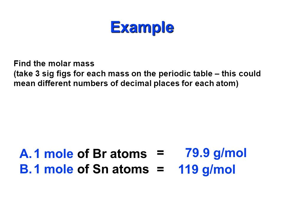 Other Names Related to Molar Mass Molecular Mass/Molecular Weight: If you have a single molecule, mass is measured in amu's instead of grams.