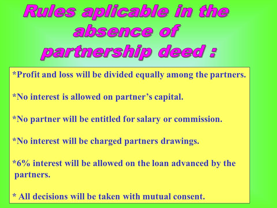 partnership deed of a firm