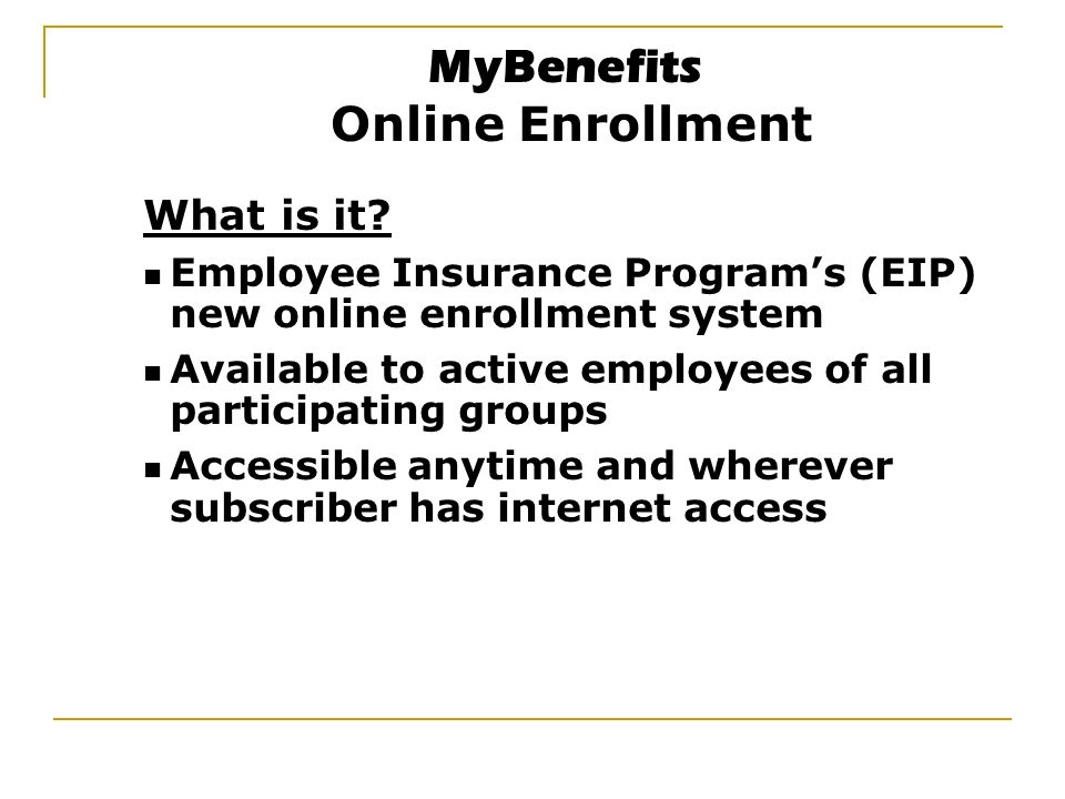 what is enrollment system