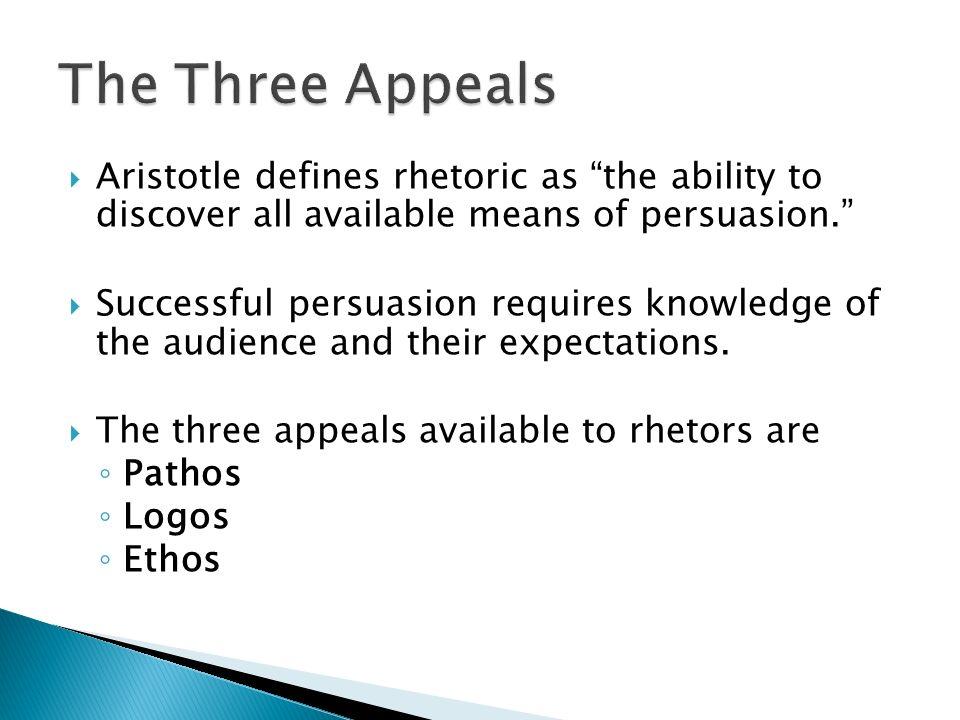 rhetorical effectiveness definition