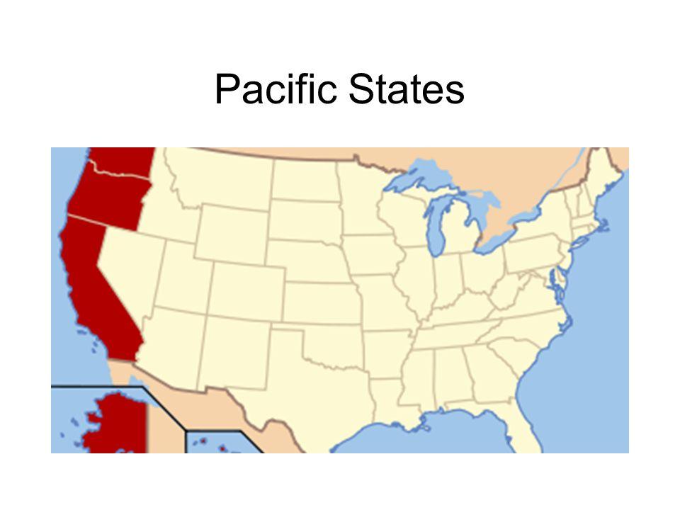 Map Of California And Hawaii.Western States Geography Alaska Hawaii California Oregon