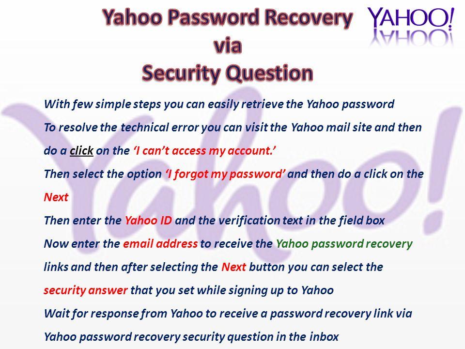 i cant access my yahoo mail