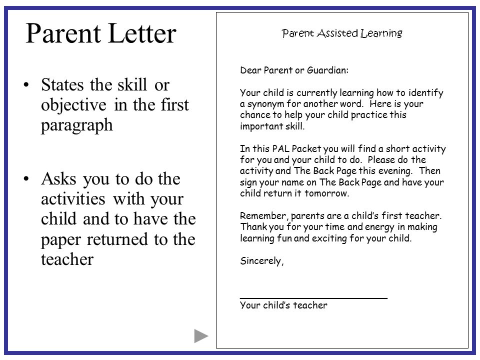 paragraph on parents