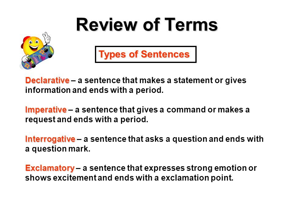 what type of sentence makes a statement