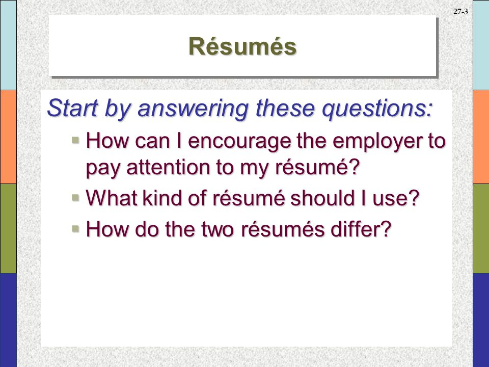 what kind of resume should i use