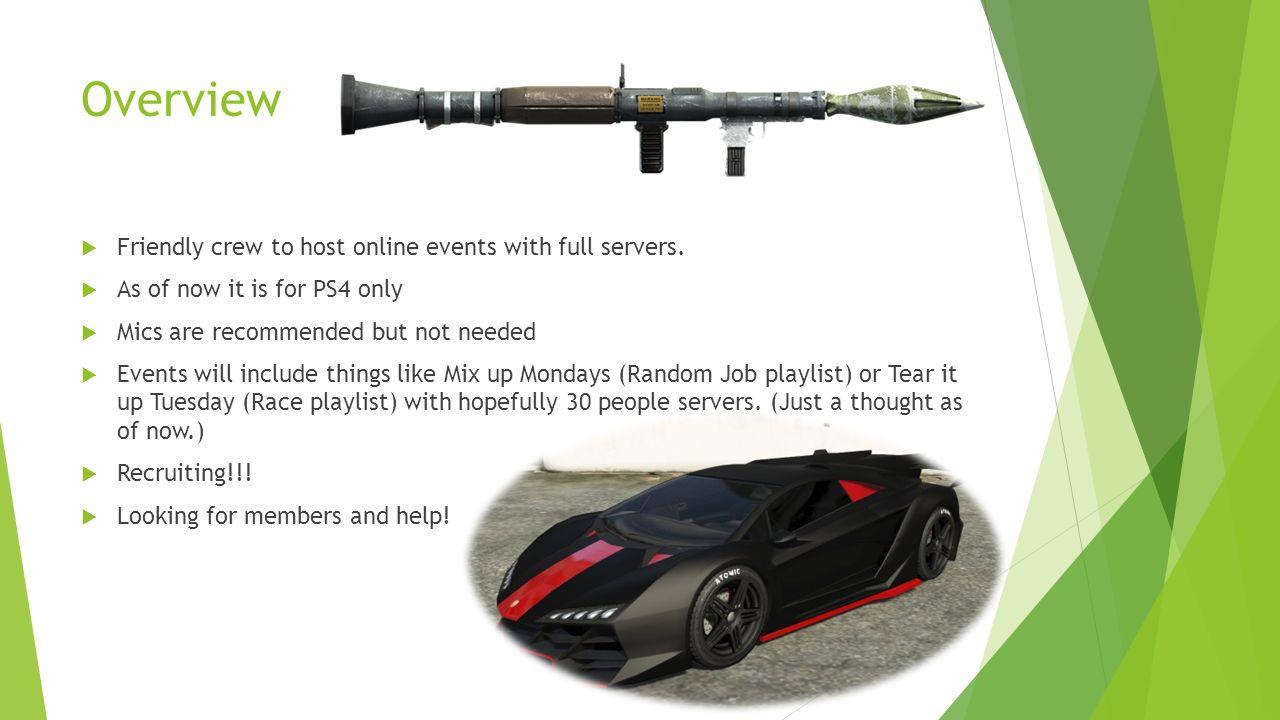 GTA PS4 Crew Event Handlers (Logo) Overview  Friendly crew