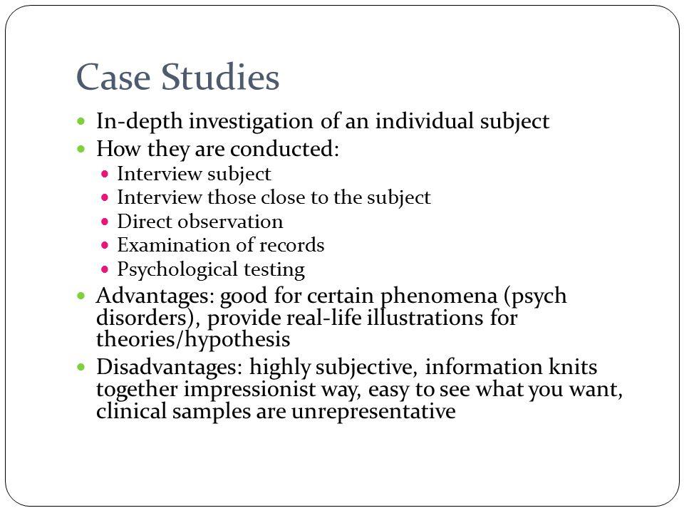 case study advantages