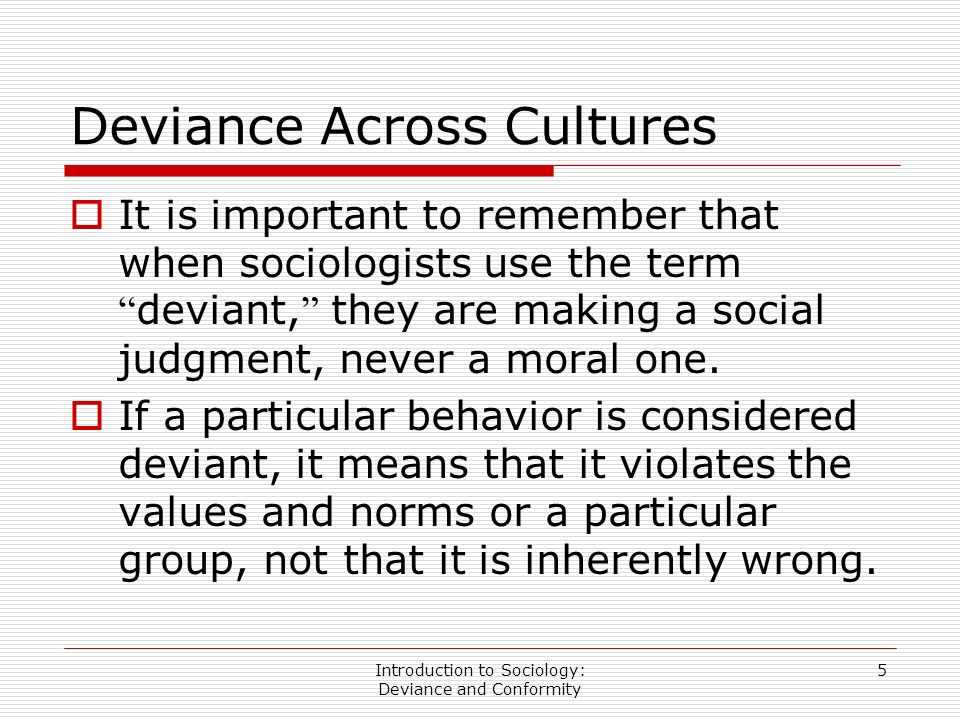 deviant behavior definition sociology