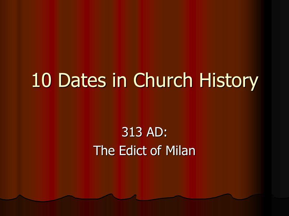 edict of milan 313