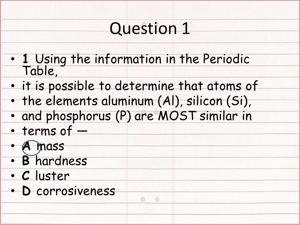 Starter what did you not understand about the periodic table test 4 question 1 1 using the information in the periodic table urtaz Gallery