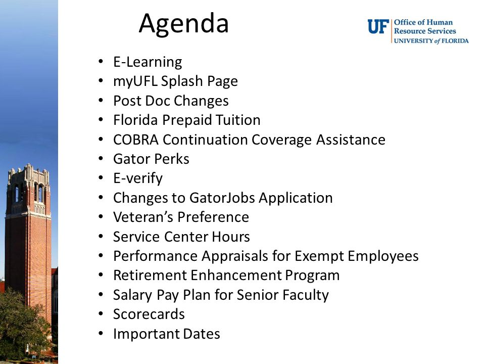 January 13, 2010, Human Resource Services Agenda E-Learning
