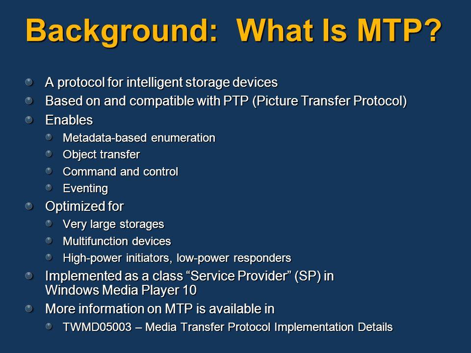 media transfer protocol windows 10