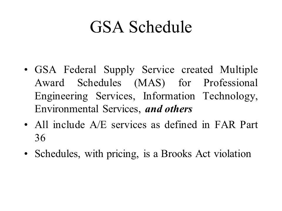 Cofpaes Presentation On Gsa Federal Supply Schedule Multiple Award