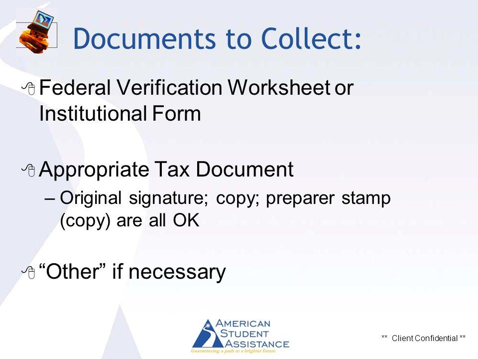 Client Confidential Understanding Tax Returns In Financial Aid