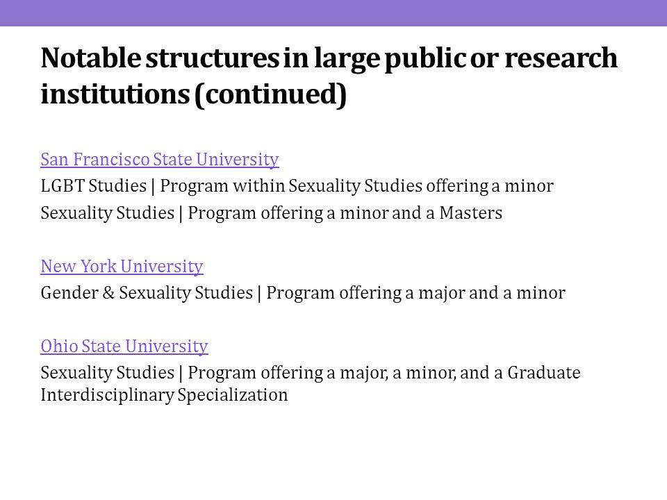 Sfsu sexuality studies minor