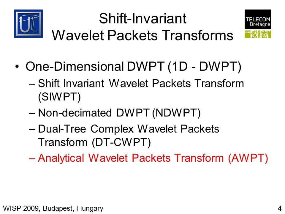 Hyperanalytic Wavelet Packets Ioana Firoiu, Dorina Isar