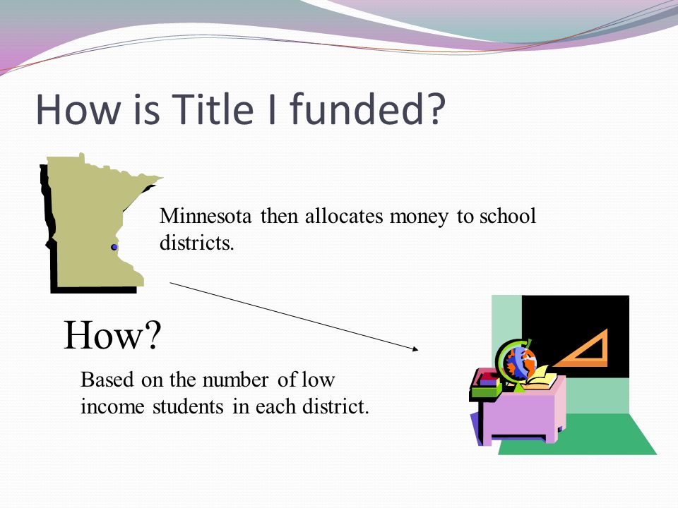 How is Title I funded. Minnesota then allocates money to school districts.