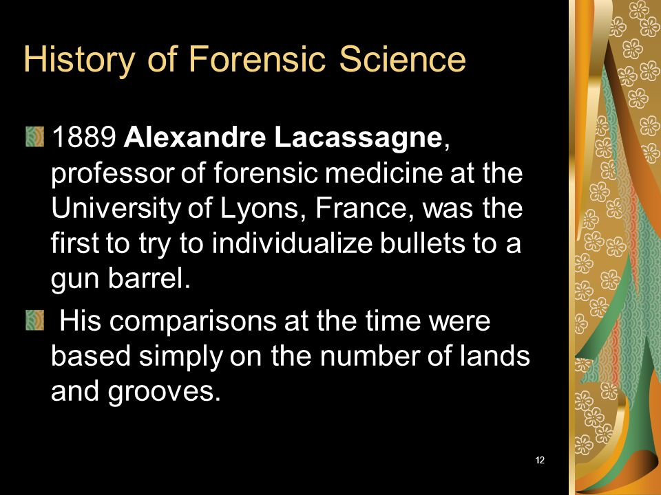 1 History Of Forensic Science Bce To 1900 Ce Part Ppt Download