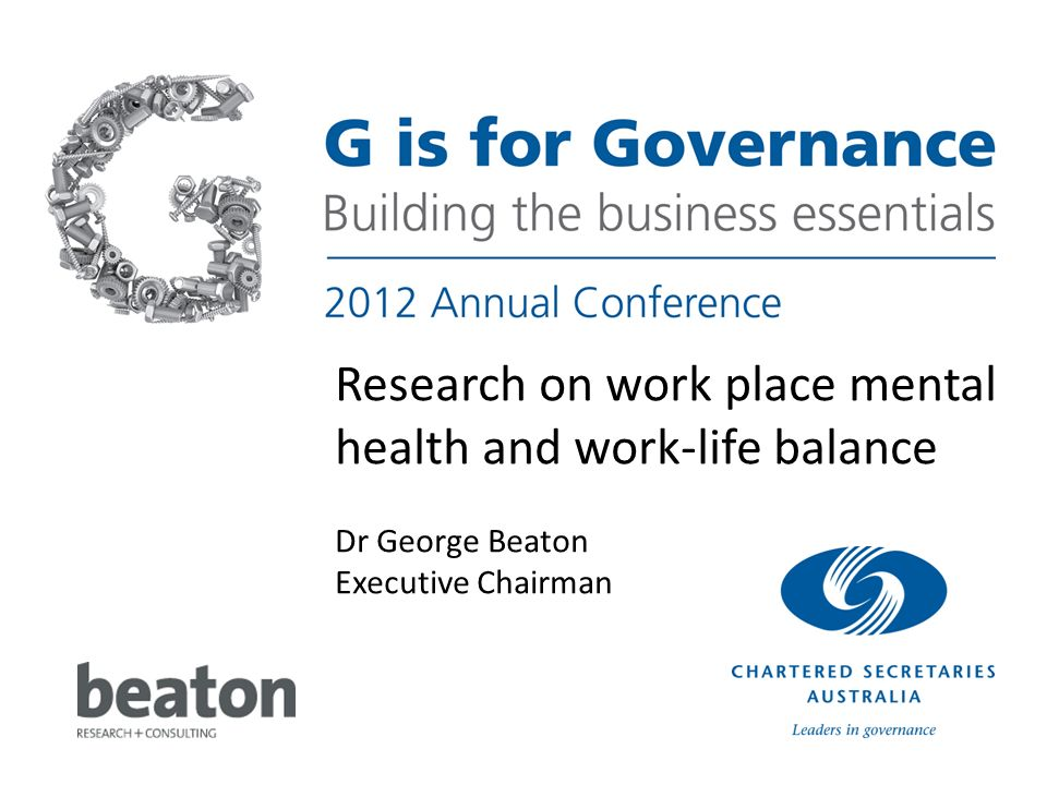 Research on work place mental health and work-life balance