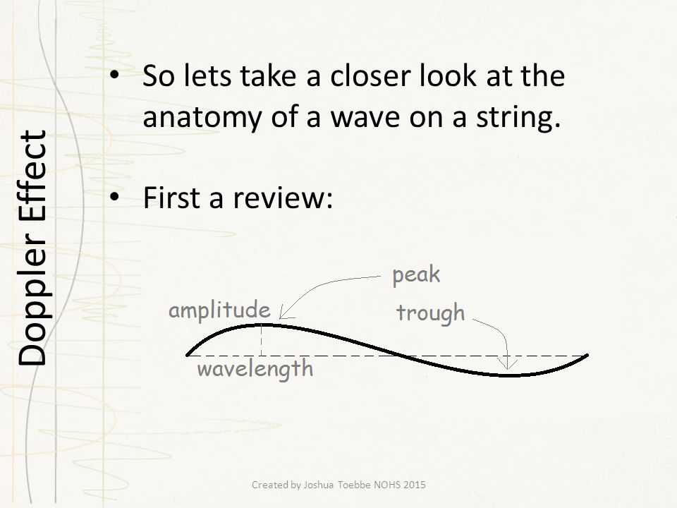 Waves Standing Waves Created By Joshua Toebbe Nohs Ppt Download