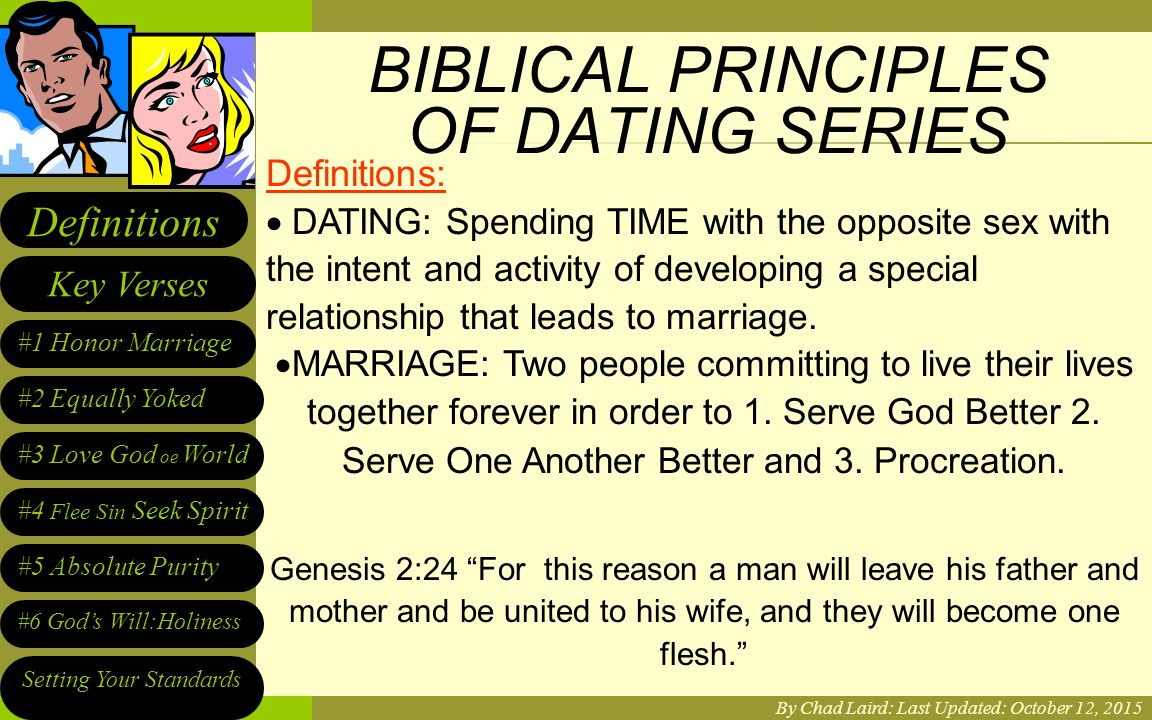 god and dating verses