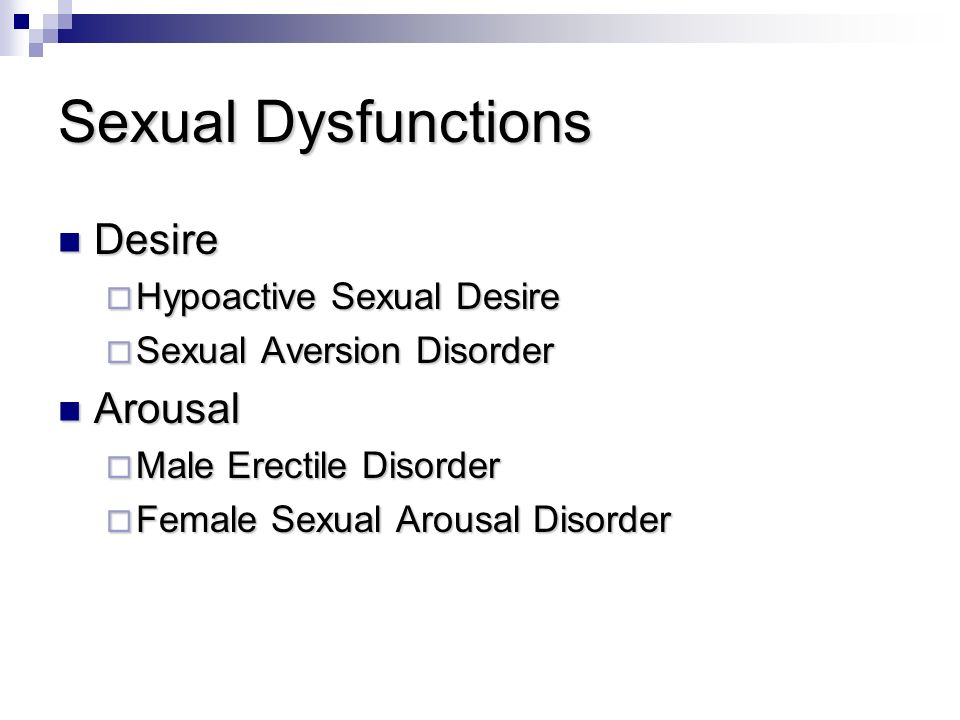Difference between hypoactive sexual desire disorder and sexual aversion disorder