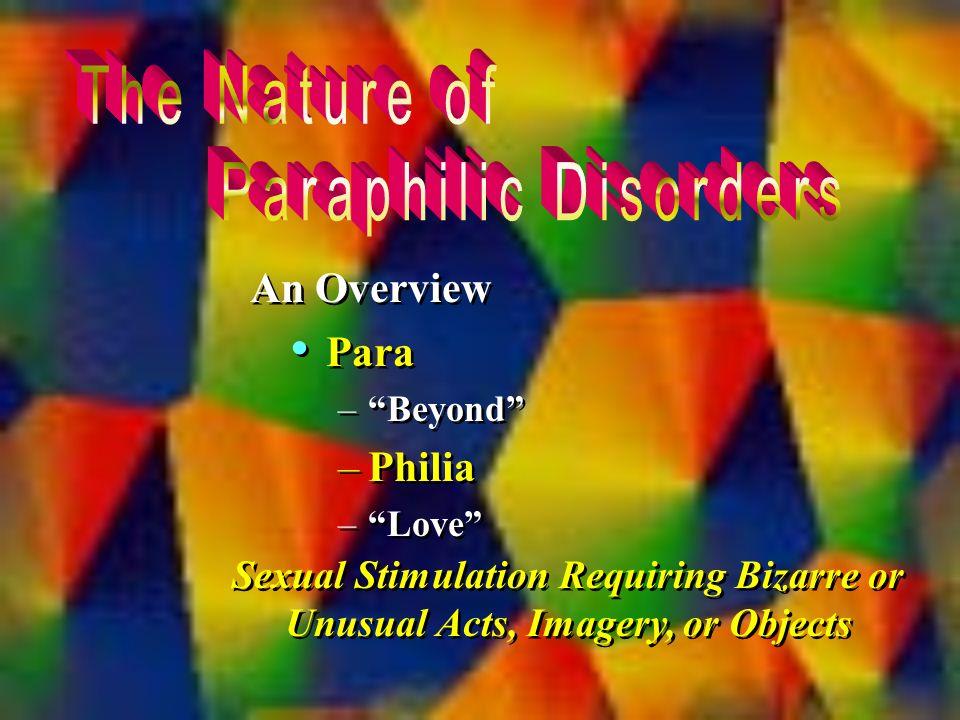 Unusual sexual disorders