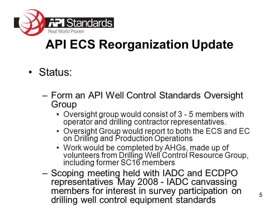 1 David Miller, PE, F ASCE Director, Standards API ECS