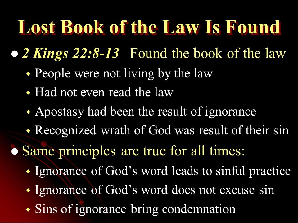 """Restoration Principle 2 Kings 22:8-13. Setting the Context 2 Kings  22:1-7Early reign of Josiah """"Did that which was right in the eyes of  Jehovah… and turned. - ppt download"""