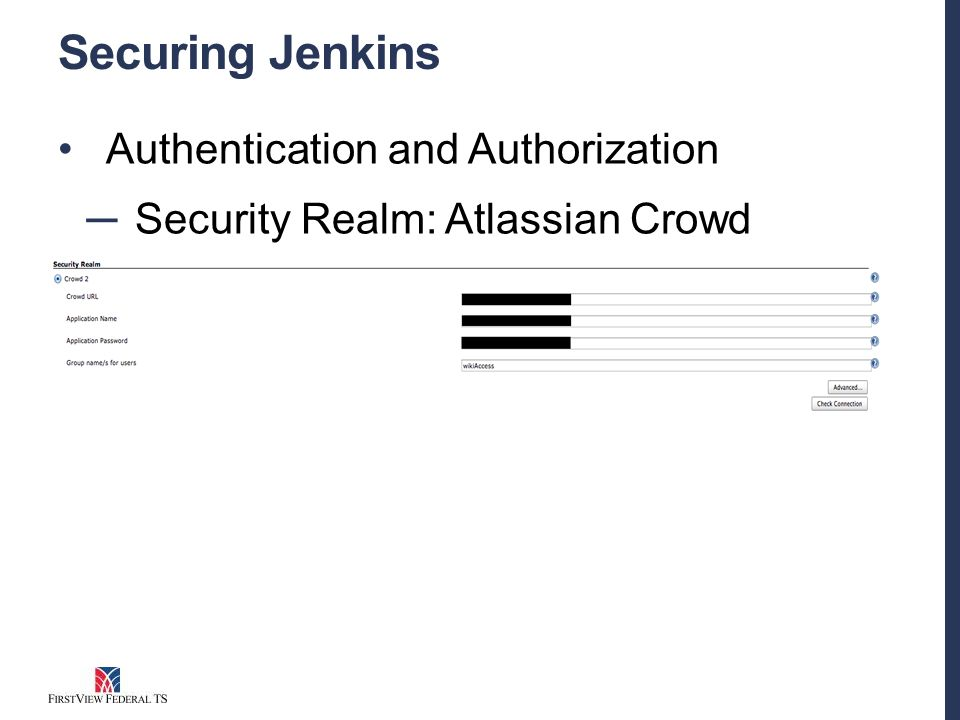 Securing Jenkins Authentication and Authorization ─ Security Realm: Atlassian Crowd