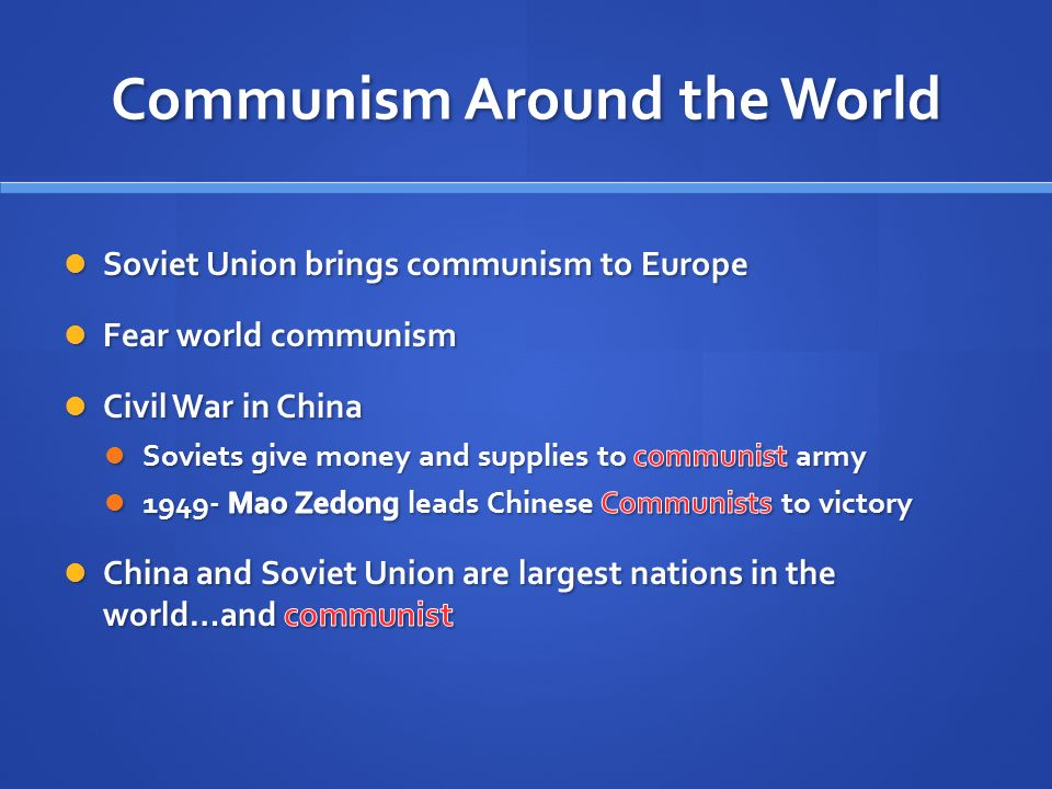 Communism Around the World