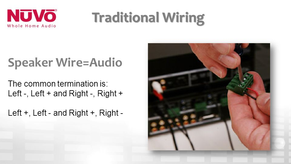 4 The Mon Termination Is Left And Right Traditional Wiring Speaker Wireaudio: Nuvo Home Audio Wiring Diagram At Satuska.co